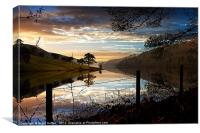 Derwent Village Reflections, Canvas Print