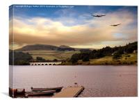 Two Over Ladybower, Canvas Print