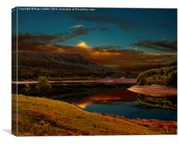 Bamford Edge Reflections , Canvas Print
