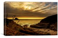 Above Trebarwith, Canvas Print
