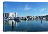 Yachts at Harbour, Canvas Print
