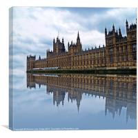 Westminster reflected, Canvas Print