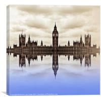 Westminster on Water, Canvas Print