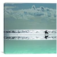 Riding Silver Sands, Canvas Print