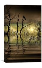 Twilight reflected, Canvas Print