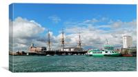 Portsmouth's historic dockyard, Canvas Print