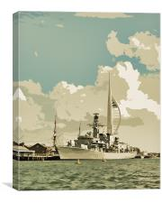 Portsmouth, Canvas Print