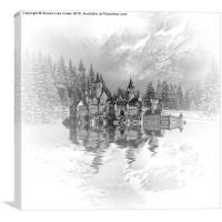 Snow palace, Canvas Print