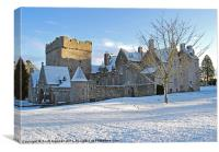 Drum Castle - Winter, Canvas Print