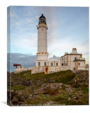 Coreswall Lighthouse Winter, Canvas Print