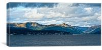 View Over Dunoon, Canvas Print