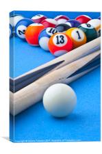 Pool Balls, Canvas Print