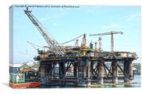 Newcastle Oil Rig, Canvas Print