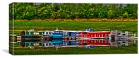 Barge Reflection, Canvas Print