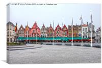 Brugge In Colour, Canvas Print