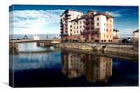 Reflection on Ayr, Canvas Print