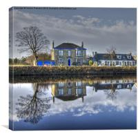 Reflection on Waterside, Canvas Print