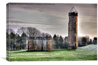 Eglinton Castle Ruins In Winter, Canvas Print