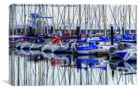 Reflection on the Haven, Canvas Print