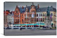 Brugge Town, Canvas Print