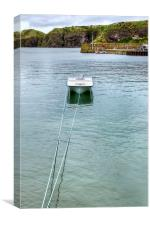 Single Boat on Stonehaven Harbour, Canvas Print