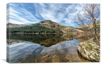 Reflection on Loch Eck, Canvas Print