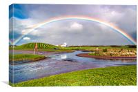 Rainbow Over Irvine , Canvas Print