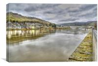 River Moselle, Canvas Print
