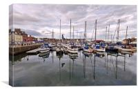 Boats on Arbroath Harbour, Canvas Print