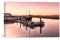 Sunset at the Harbour, Canvas Print