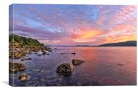 Firth of Clyde Sunset, Canvas Print