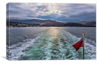 Arran Ferry Wake, Canvas Print