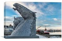 Travelling Kelpies, Canvas Print