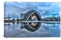 Armadillo Reflection Glasgow, Canvas Print