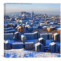Edinburgh Cityscape in Winter, Canvas Print