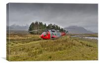 Royal Navy Sea King, Glencoe, Canvas Print