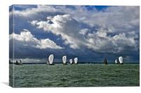 Racing yachts in the Solent, Canvas Print