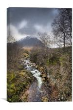 Falls on the River Coupall, Canvas Print