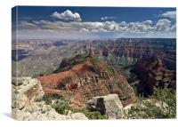 Mount Hayden from Point Imperial, Grand Canyon, Canvas Print
