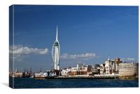 Spinnaker Tower and Round Tower, Portsmouth, Canvas Print