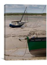 Beached boats at Leigh-on-Sea, Canvas Print