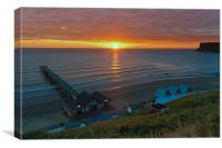 Sunrise at Saltburn, Canvas Print