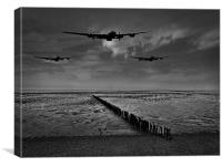 Enemy coast ahead, skipper black and white versi, Canvas Print