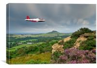Jet Provost over the Cleveland Hills, Canvas Print