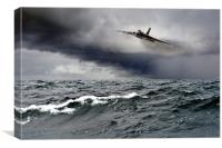 Avro Vulcan Black Buck One Atlantic attack run, Canvas Print
