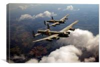 Birds of a feather: two Lancasters, Canvas Print