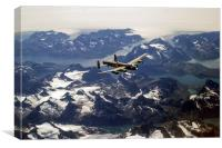 Lancaster over Greenland, Canvas Print