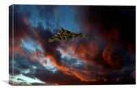 Avro Vulcan at sunset, Canvas Print