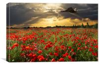 The Final Sortie Vulcan Bomber Version I, Canvas Print