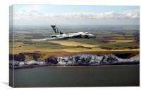 Avro Vulcan over the white cliffs of Dover, Canvas Print